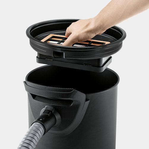 Интегрирана филтърна система (негорима) с плосък филтър и метален филтър за едри отпадъци
